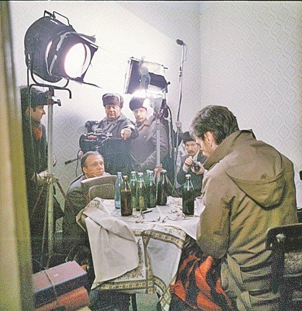 """Кадры со съёмок фильма """"Москва слезам не верит"""", 1979"""