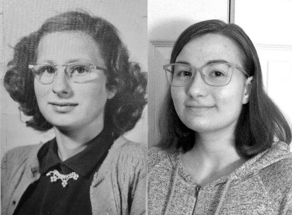 Фото бабушки и её внучки, 64 года разницы