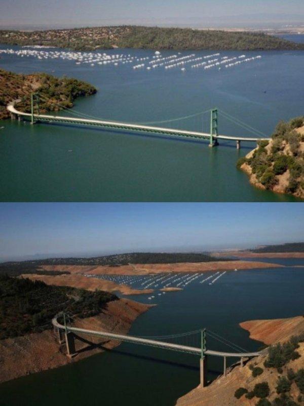 Результат засухи в Калифорнии в 2014 году