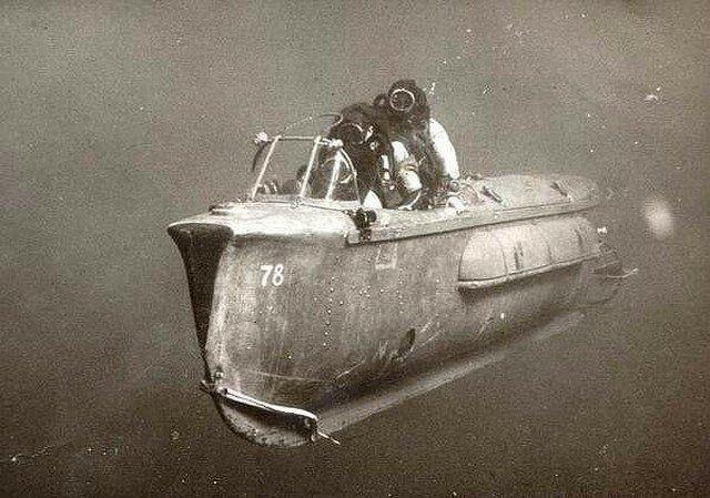 Транспортное средство, используемое для передвижения под водой. Израиль, 1967 год