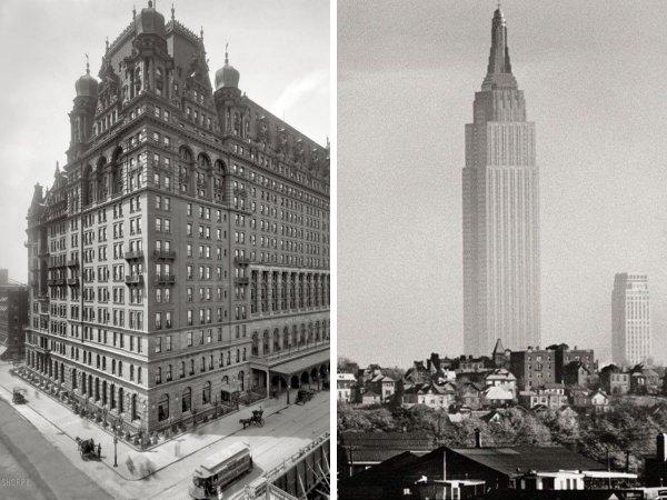 Отель Уолдорф-Астория в Нью-Йорке был снесён для строительства небоскрёба Эмпайр-стейт-билдинг
