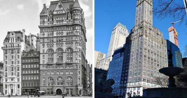 Отель New Netherland в Нью-Йорке и построенный на его месте жилой небоскрёб Sherry-Netherland