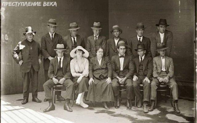 Групповое фото банды преступников в Сиднее, 1921 год.