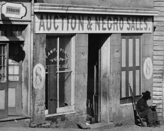 Офис работорговца в Атланте. США, 1864 год.