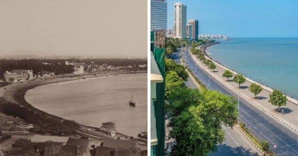Мумбаи, Индия, в 1870 и 2021 году