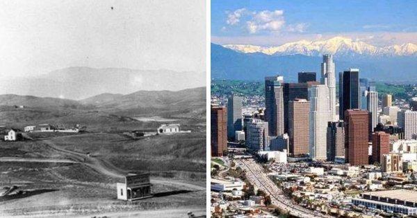 Лос-Анджелес тогда и сейчас