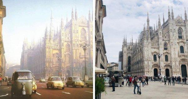 Как изменился Милан за 70 лет
