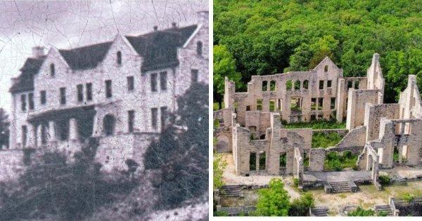 Замок Ха Ха Тонка, который был разрушен в результате пожара