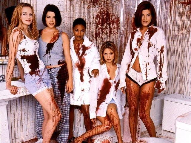 """Промо фотосессия для """"Крик 2"""". 1997 год."""