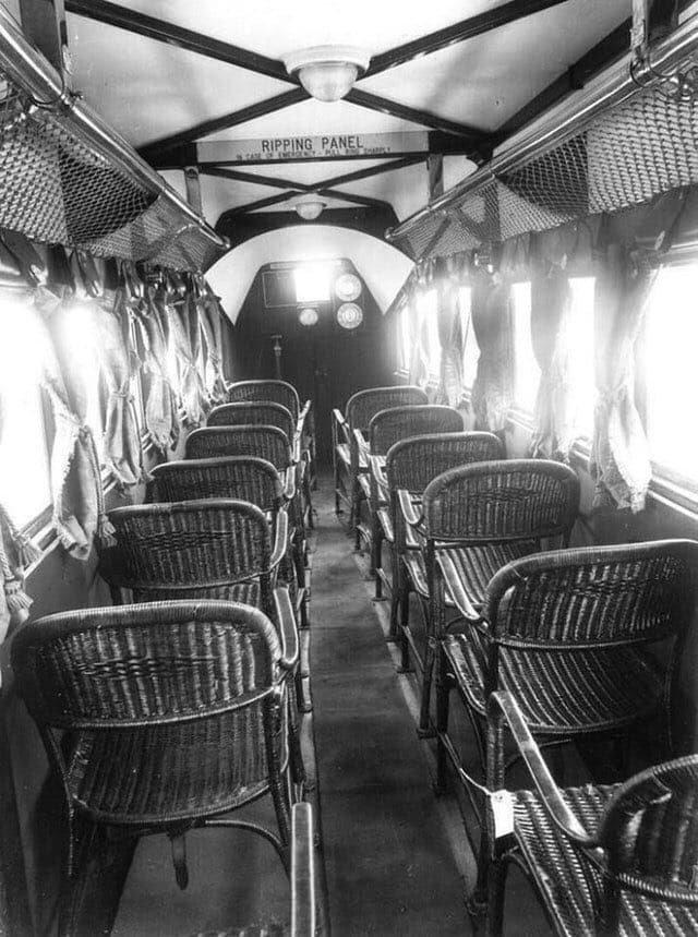 Интерьер самолета им. Императорских авиалиний, 1936 год.