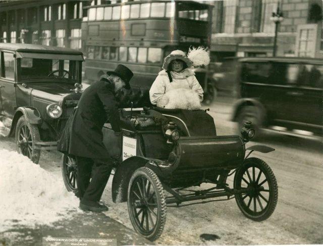 Oldsmobile на Мичиган-авеню, 1900 год.