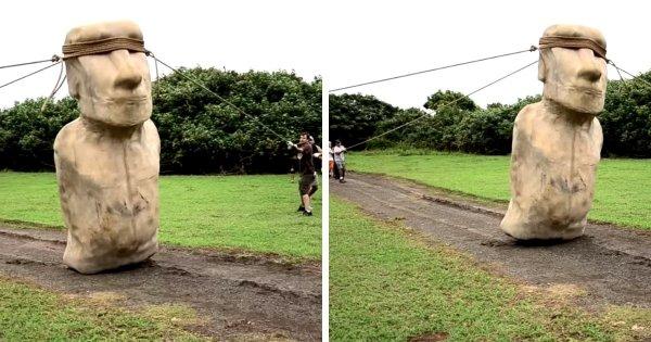 Как люди передвигали (и передвигают) статуи Моаи с острова Пасхи