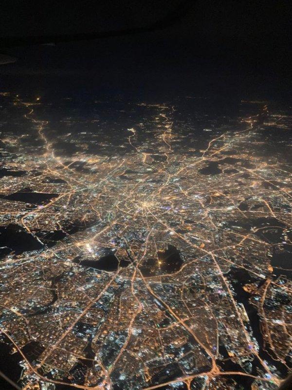 Москва, снятая с самолета
