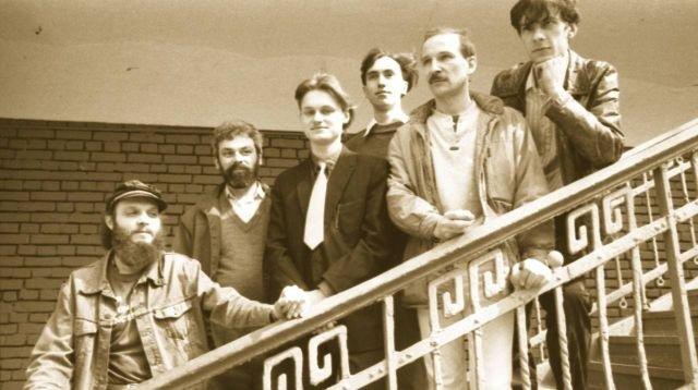 """Петр Мамонов в составе музыкальной рок-группы """"Звуки Му"""", 1988-89"""