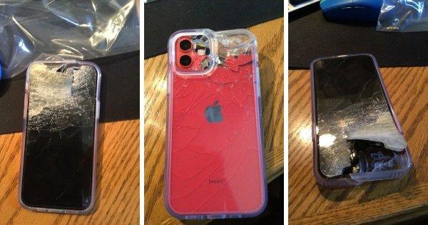 Телефон выпал из кармана и попал под газонокосилку
