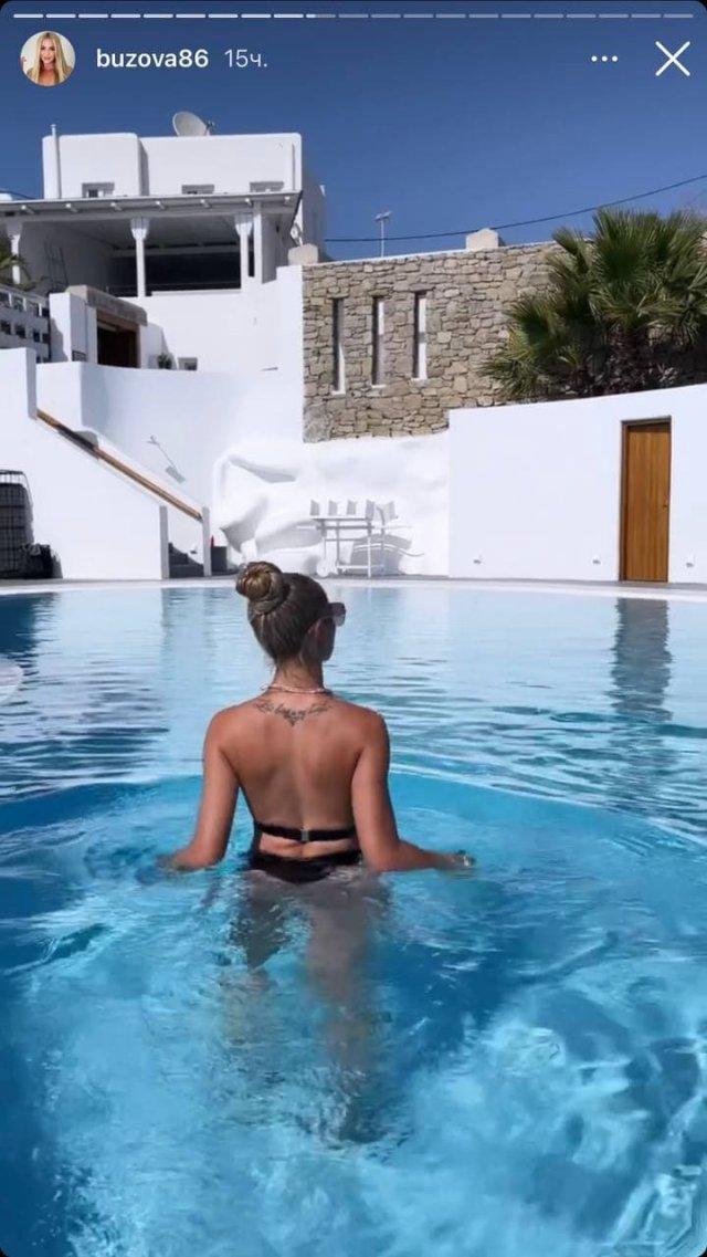 Пляжный отдых Ольги Бузовой в Греции