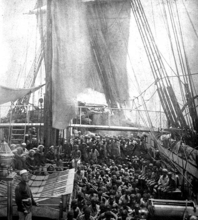 Освобождение восточно-африканских рабов от арабских работорговцев. 1868 г.