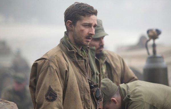 Шайа Лабаф вступил в Национальную гвардию США, чтобы подготовится к фильму «Ярость» (2014)
