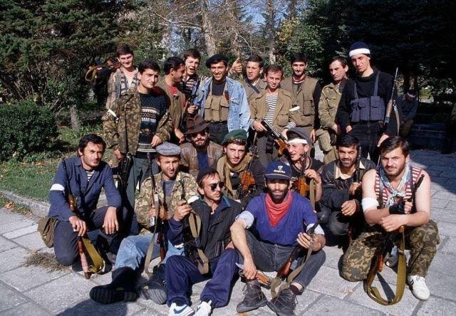 Звиадисты в Сенаки (Грузия), октябрь 1993 года.