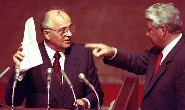 Ельцин требует у Горбачева осудить КПСС, 23 августа 1991 г.