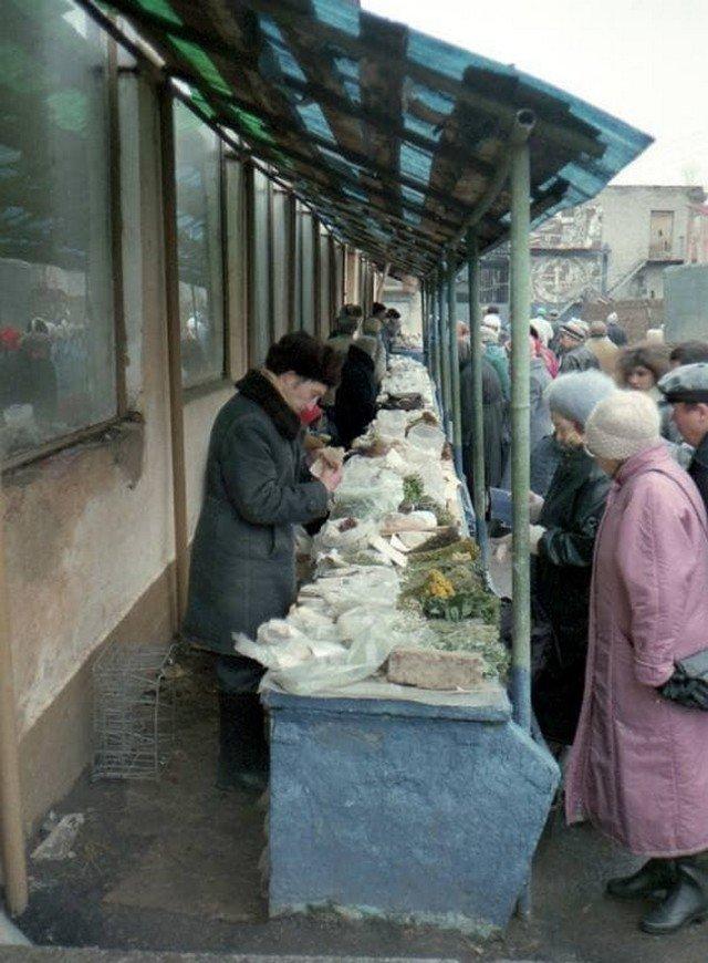 На центральным рынке в Казани, 1997 год