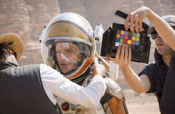 Мэтт Деймон на съемках фильма «Марсианин»