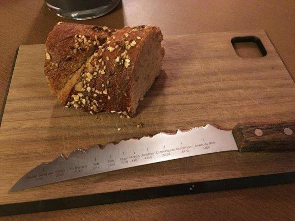 Нож с лезвием необычной формы