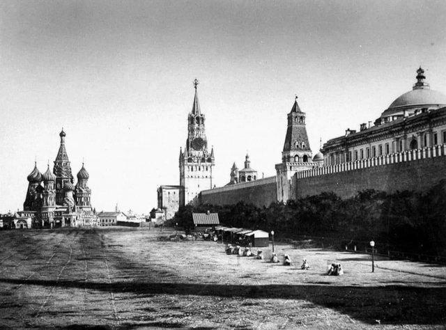 «Самая старая фотография Красной площади». Москва, 1856 г.
