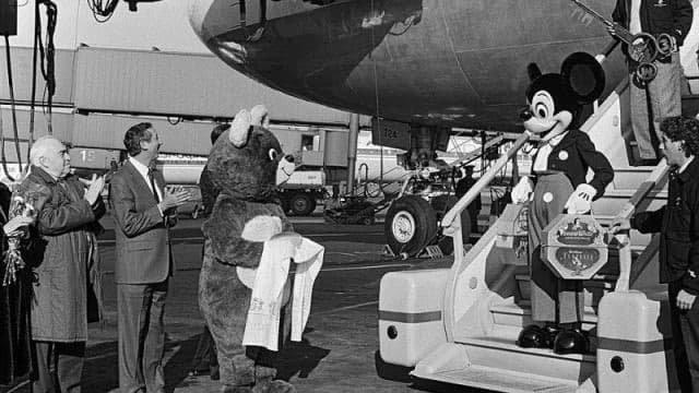 Первый официальный визит в СССР Мики-Мауса , 1980-е.