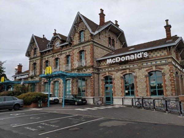 Раньше здесь была железнодорожная станция, а теперь