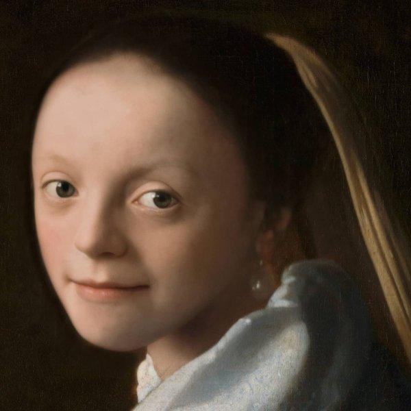 Девушка с картины Яна Вермеера «Портрет молодой девушки»