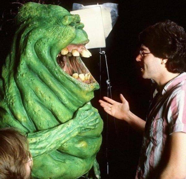 На съёмках фильма «Охотники за привидениями» 1984 года