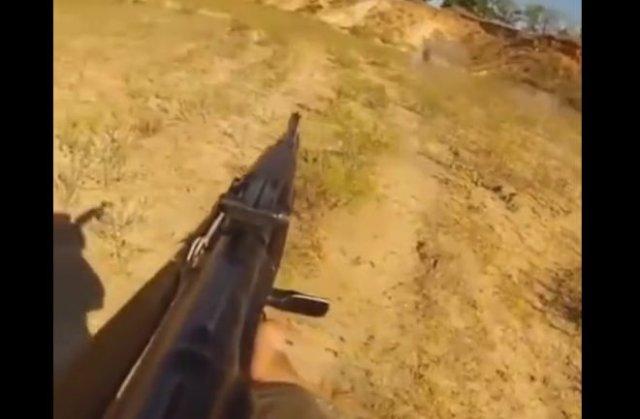 Очень суровая тренировка со стрельбой из автомата