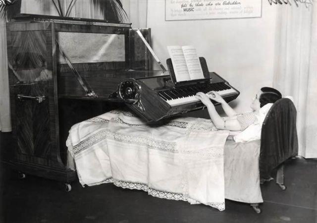 Пианино для прикованных к постели