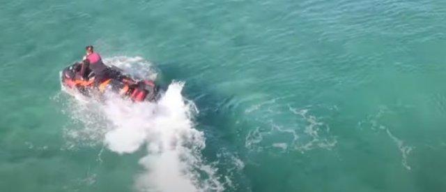 Любителя острых ощущений атаковала акула