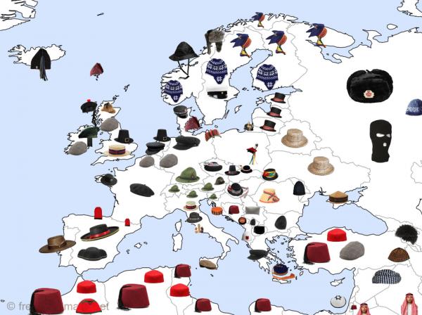 Шапки в разных странах