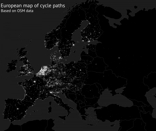 Европейская карта велодорожек