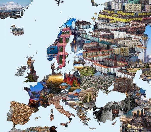 Как выглядят города в разных странах
