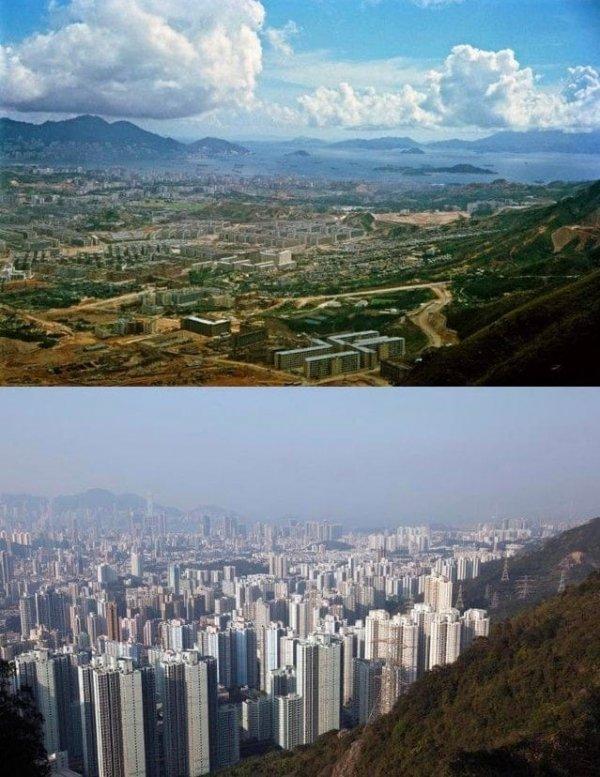 Гонконг в 1964-м и 2016 году