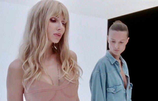 Украинская модель Татьяна Рубан, снявшаяся в клипе Светланы Лободы Indie Rock в джинсовой кофте