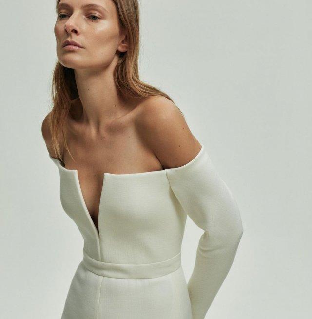 Украинская модель Татьяна Рубан, снявшаяся в клипе Светланы Лободы Indie Rock в белом платье