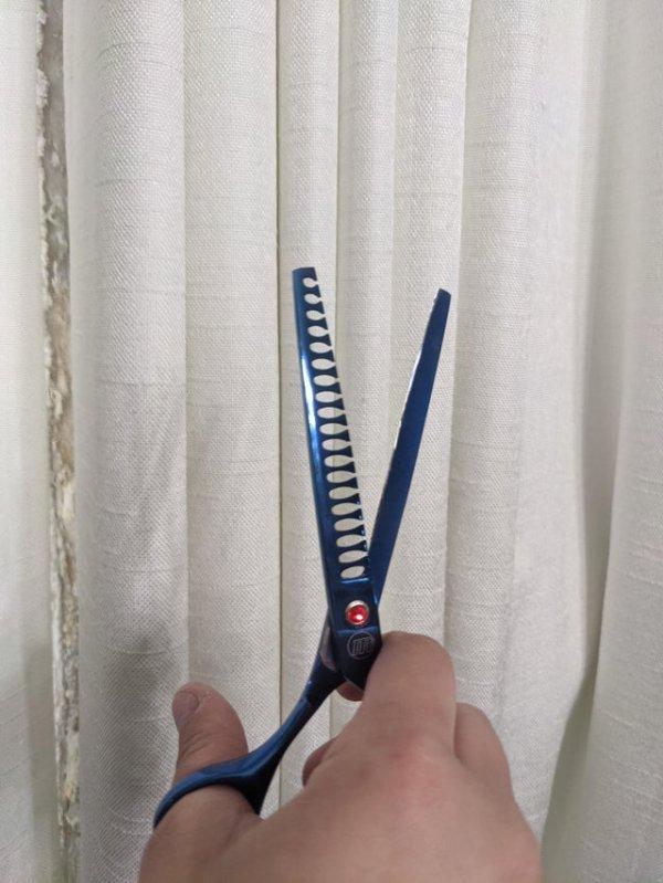 Ножницы, которыми грумеры приводят в порядок особо толстую шерсть