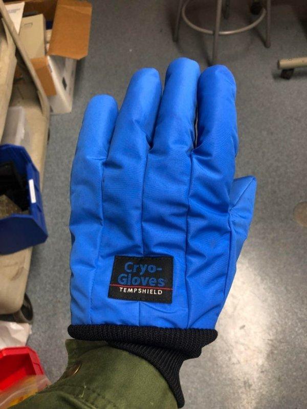 Специальные перчатки для тех, кто работает с очень холодными предметами и веществами