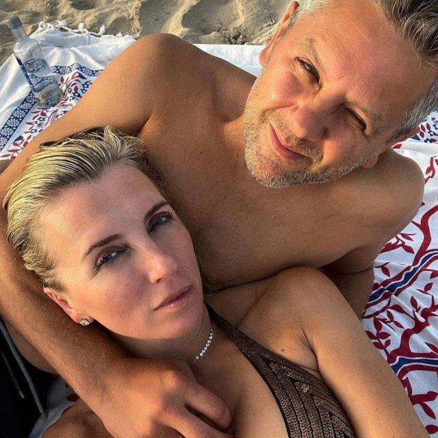Режиссер и ведущая Светлана Бондарчук с мужем