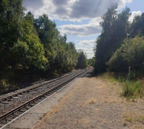 Старая железная дорога в Шотландии, построенная для горняков, которая не использовалась с 1988 года после того, как закрыли местную шахту