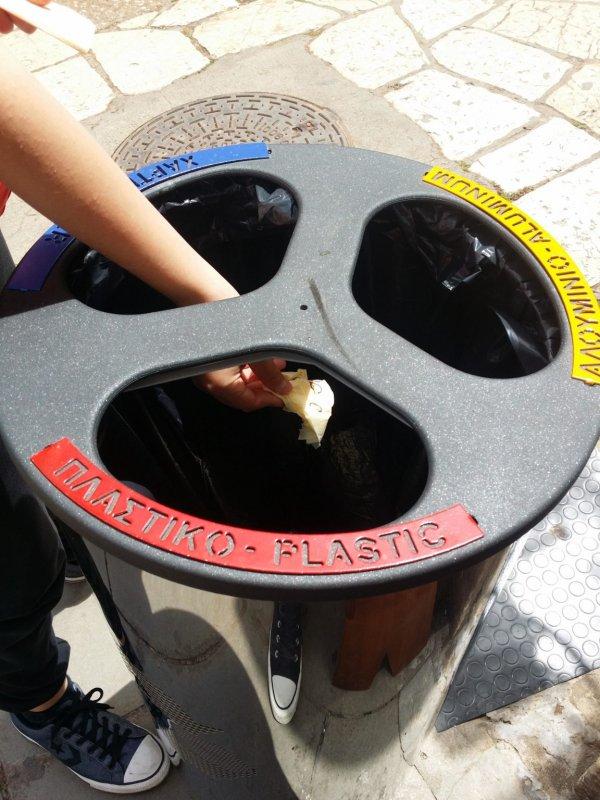 Раздельный сбор мусора в Греции