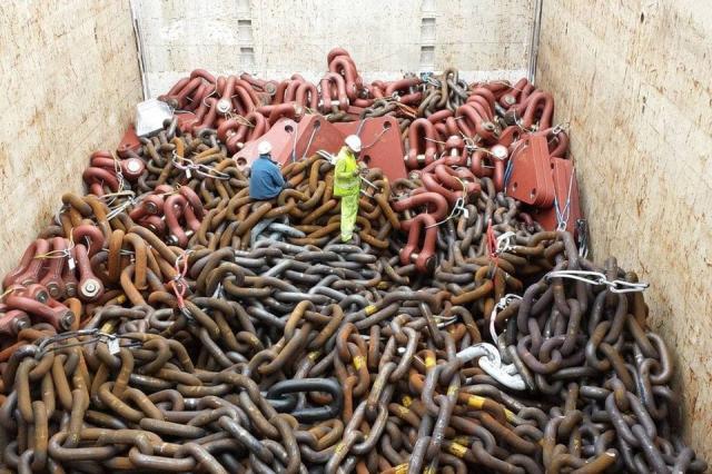 Вот какого размера якорные цепи