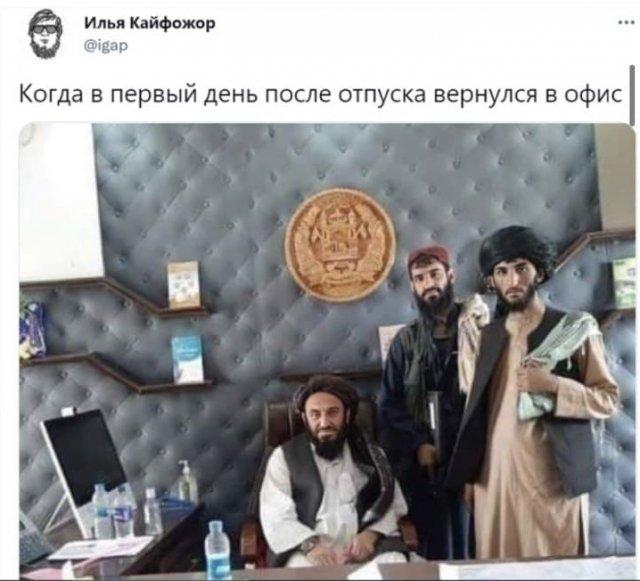 Шутки пользователей о новой власти в Афганистане