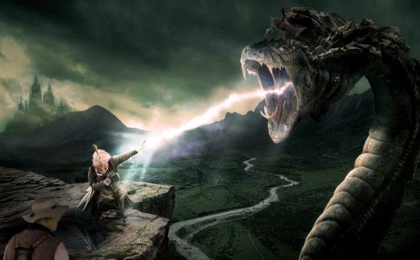 Фэнтези-бабушка сражается с порождениями тьмы