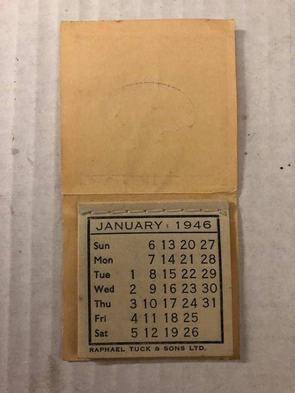 Календарь 1946 года размером со спичечный коробок